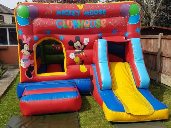 Minnie & Mickey Clubhouse Castle With Slide