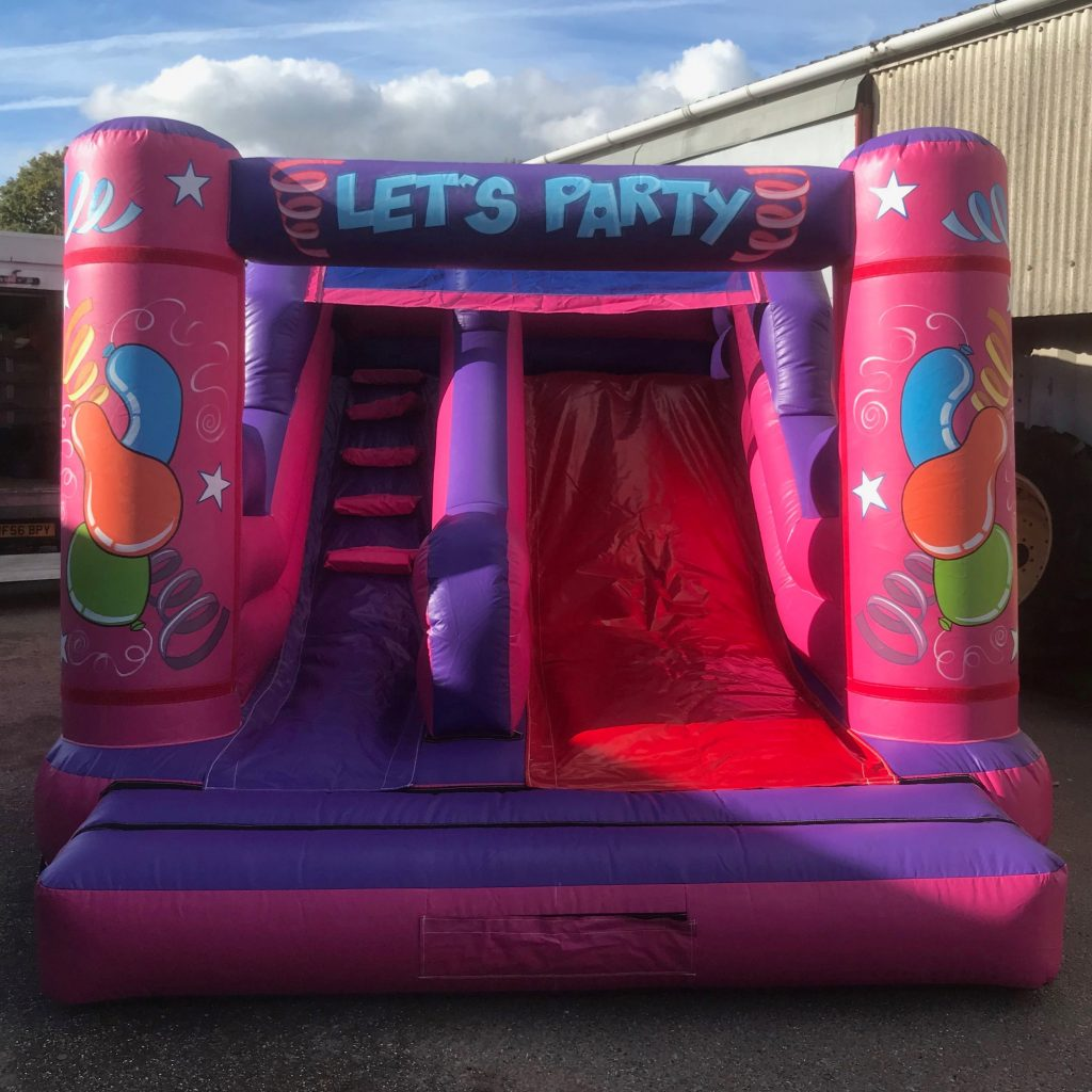 9ft velcro pink and purple slide