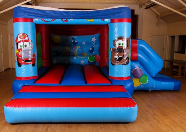 Cars 17 x 15 Velcro Castle With Slide – Changeable Themes