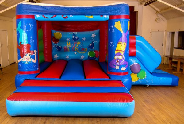 Ariel 17 x 15 Velcro Castle With Slide – Changeable Themes