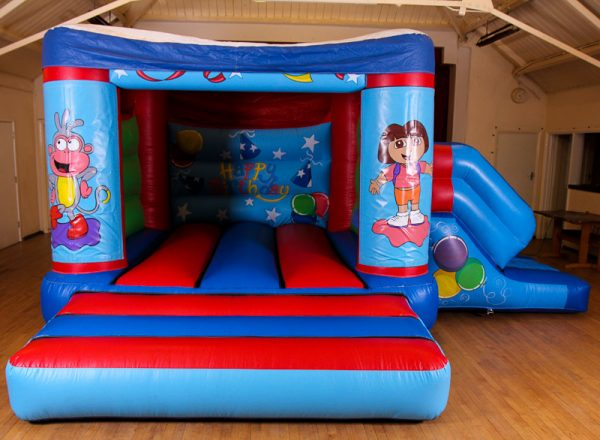 Dora 17 x 15 Velcro Castle With Slide – Changeable Themes