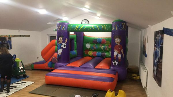 Football 17 x 15 Velcro Castle With Slide – Changeable Themes