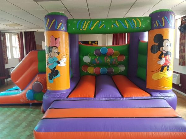 Mickey and Minnie 17 x 15 Velcro Castle With Slide – Changeable Themes