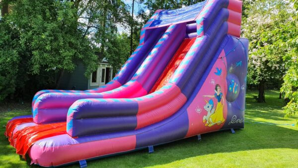 Inflatable Unicorn & Princess Pink Slide