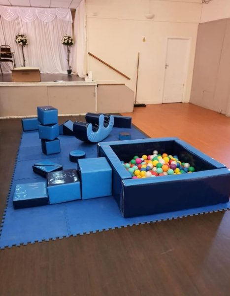 Blue Soft Play Set & Ball Pool